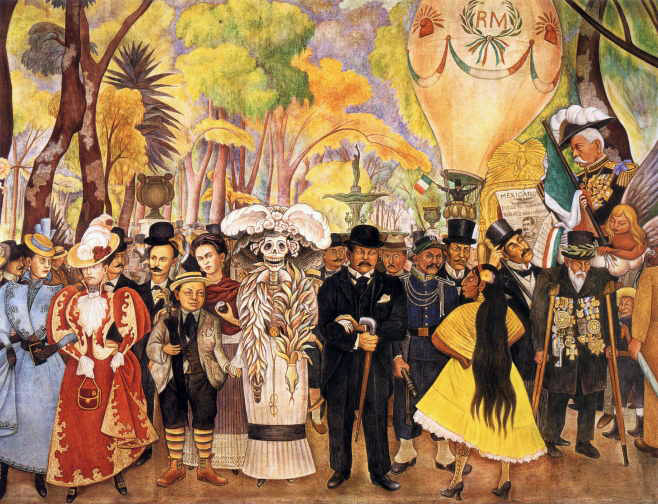 History for Diego rivera creation mural