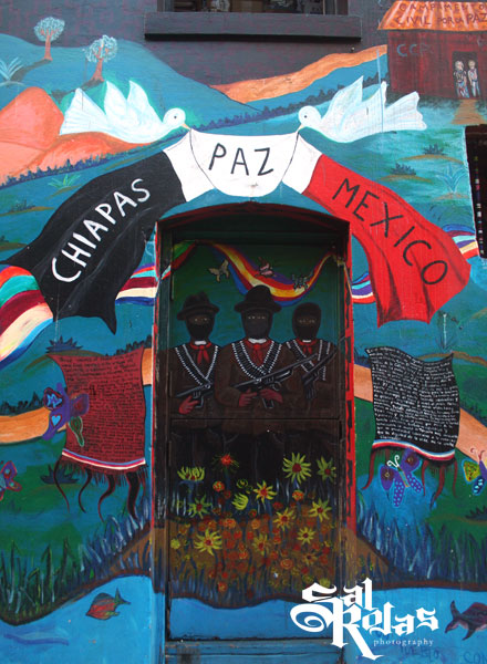 Department of citizen alice chiapas paz mexico for Mural zapatista