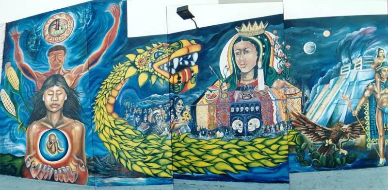 Rodolfo corky gonzales for Mural quetzalcoatl